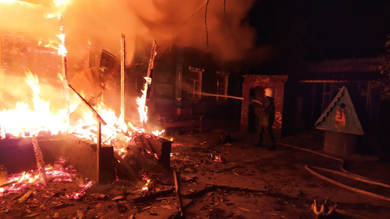 Пожежа в селі Калинівка